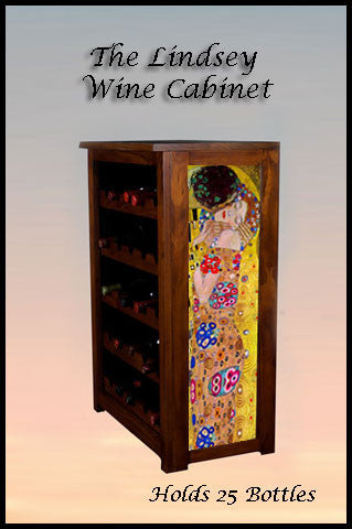 Lindsey Wine Cabinet- The Kiss by Klimt
