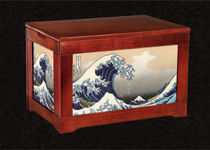 Japanese Kindlingbox-Big Wave off Kanegawa-Hokusai