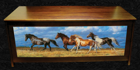 Blanket Chest with Horses by Cummiings