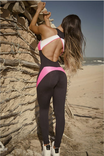 Mono Jumpsuit  workout con espalda descubierta  ROMLES ¡Últimas Unidades! - luxury-leggings