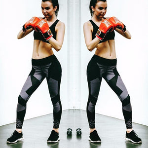Leggings deportivos fitness transpirables de cintura alta GEOMETRICS - luxury-leggings