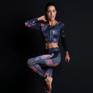 Conjunto de 2 piezas fitness legging + Top ZIPPER ¡Últimas Unidades! - luxury-leggings