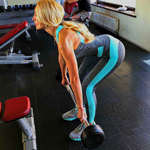 Mono fitness con paneles en color vibrante LINNES - luxury-leggings