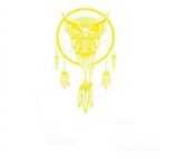 Sticker Attrape-Rêves Jaune <BR> - <BR> 🦉Hibou Gardien 🦉