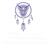 Sticker Attrape-Rêves Violet <BR> - <BR>🦉 Hibou Gardien🦉