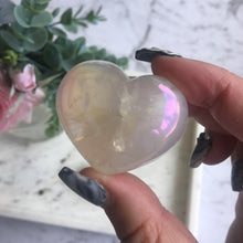 Load image into Gallery viewer, Aura Rose Quartz Puffy Hearts