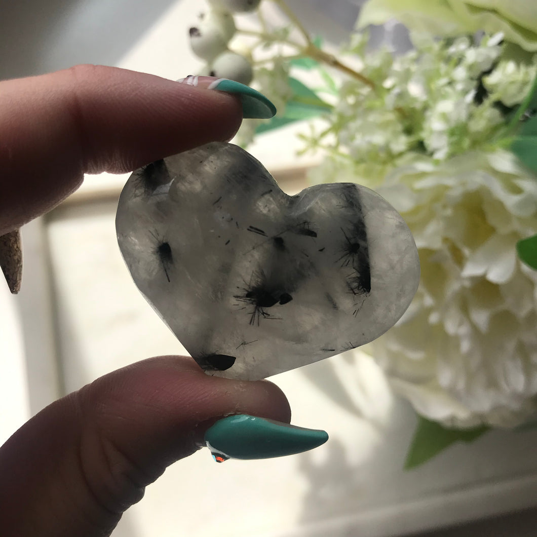 Tourmalated Quartz Hearts
