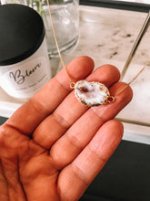 Load image into Gallery viewer, Natural Druzy Necklace with Candle