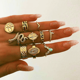 10 Pieces Rings Set