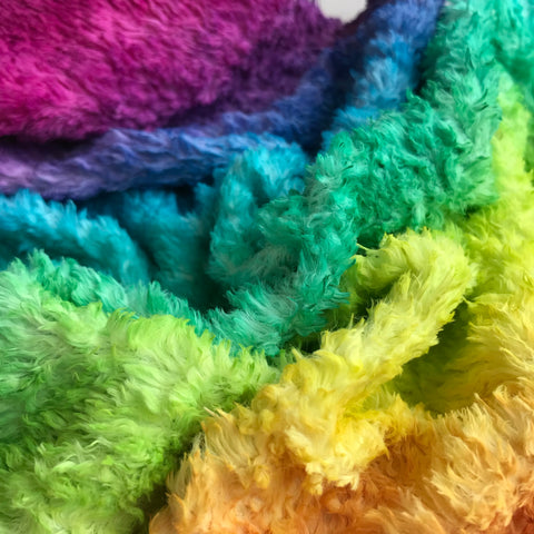 Long Viscose - Hand Dyed Rainbow - Fat 1/8m - OCT033