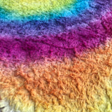 Long Viscose - Hand Dyed Rainbow Circle - Fat 1/4m - OCT046