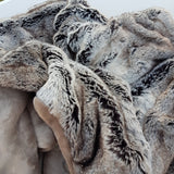 Silver Fox Blanket - luxury soft faux fur throw