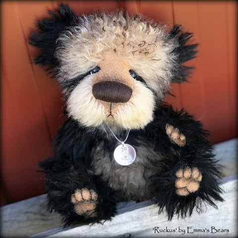 Ruckus - 20 Years of Emma's Bears Commemorative Teddy - OOAK in a series