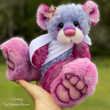 "Clumsy - 12"" Hand-dyed Mohair and Alpaca Bear by Emma's Bears - OOAK"