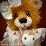 "Bobby CJ - 18"" Hand-Dyed Artist Baby Bear by Emma's Bears - OOAK"