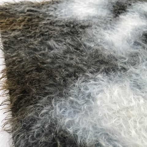 Errol Mohair - Hand Dyed BLACK BATIK - Fat 1/8m - AUG019
