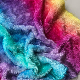 Curly Viscose - Hand Dyed Rainbow - Fat 1/4m - MAR020