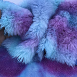 Long Alpaca - Hand Dyed Purples and Blues - 1/8m - AUG004