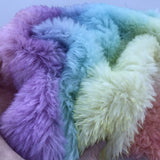 Long Alpaca - Hand Dyed Pastel Rainbow - 1/8m - AUG005