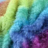 Crimped Mohair/Viscose - Hand Dyed Rainbow - Odd sized 1/4m - AUG030