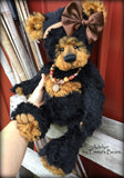Adelyn - 20IN black and copper mohair bear by Emmas Bears - OOAK