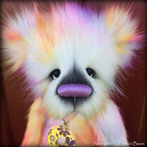 "Afterglow - 17"" skinny faux fur bear by Emmas Bears - OOAK"