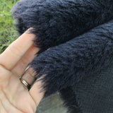Alpaca - Long pile - BLACK