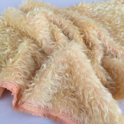 Bianca Mohair - Hand Dyed Apricot Butter - FY003