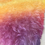 Long Pile Mohair - Sunset - Hand Dyed - 1/4m - AUG031