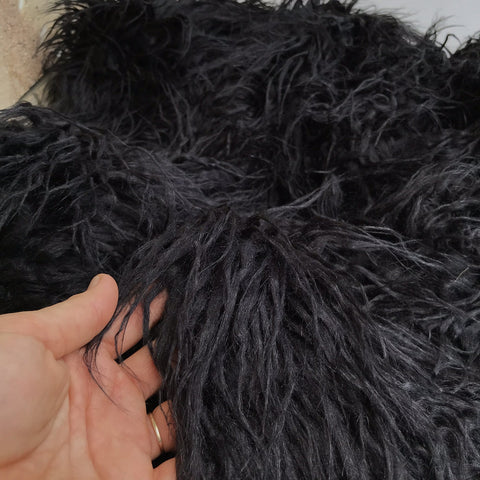 Beast - Shaggy Black Faux Fur