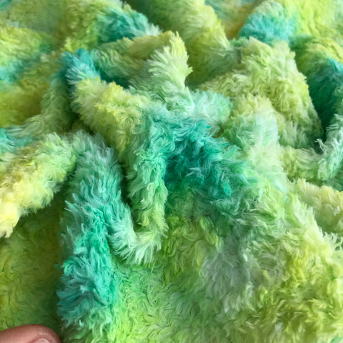 Long Viscose - Hand Dyed Crushed Lime - Fat 1/8m - OCT041