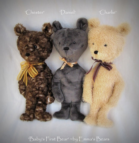 "Digital PATTERN - 14"" Baby's First Bear - unjointed design"
