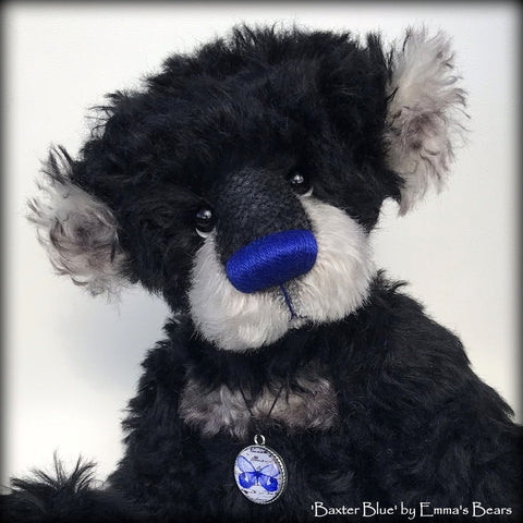 Baxter Blue - 15in MOHAIR Artist Bear by Emmas Bears - OOAK
