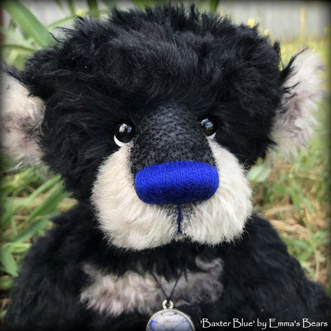"KITS - 15"" Baxter Blue mohair bear"