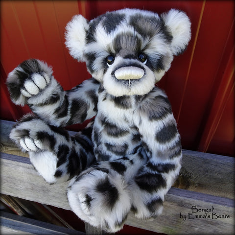 "KITS - 15"" Bengal faux fur and alpaca bear"