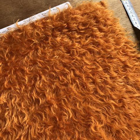 Bianca Mohair - Hand Dyed Carrot Tops - 1/8m - SEP 012