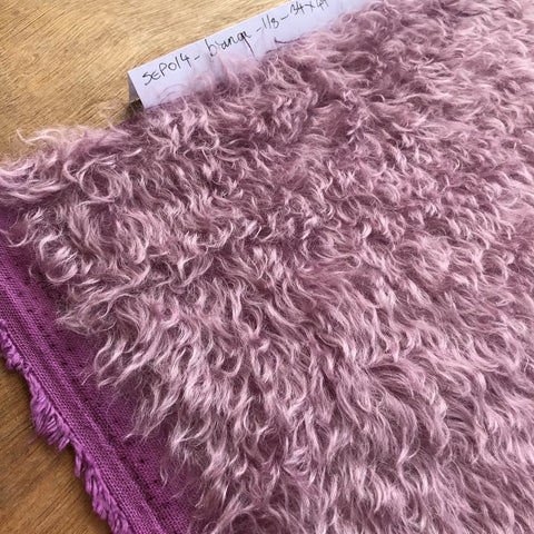 Bianca Mohair - Hand Dyed Paris Purple - 1/8m - SEP 014