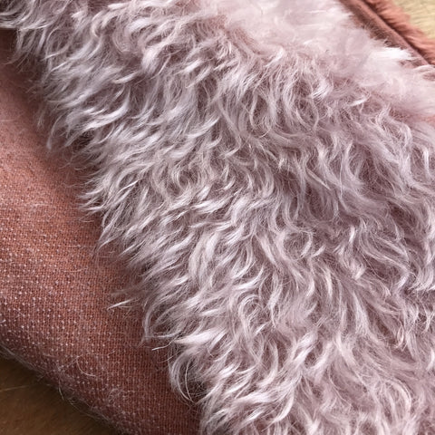 Bianca Mohair - Hand Dyed Mahogany Violet- 1/8m - SEP 010