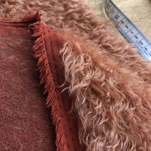 Bianca Mohair - Hand Dyed Mahogany - 1/8m - SEP 011