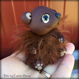 Bibi - 3in MOHAIR and polymer clay Artist Bear by Emmas Bears - OOAK
