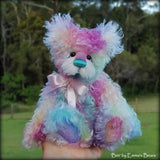 Curly Kid Mohair - Hand Dyed Rainbow Spots - Fat 1/8m - AUG049