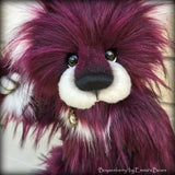Boysenberry - 15IN faux fur bear by Emmas Bears - OOAK