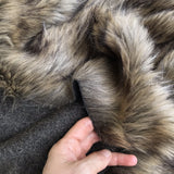 Brindle - Tipped Wolf-like Faux Fur