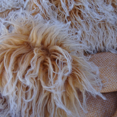 ON SALE - Butterum Yeti - frosted mongolian curly Faux Fur - 2K17