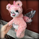 "Camille - 12"" Hand dyed artist Easter Butterfly Bear by Emma's Bears - OOAK"