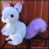 Chatter - 6in Hand-dyed alpaca Artist Squirrel by Emmas Bears - OOAK