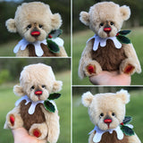 Christmas Pudding L/E 4 of 4 - Handmade ALPACA artist bear by Emma's Bears