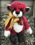 "Claus - 13"" hand dyed mohair Christmas artist bear by Emma's Bears - OOAK"