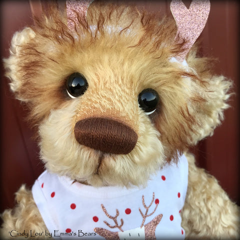 "Cindy Lou - 21"" Christmas 2018 Toddler Artist Bear by Emma's Bears - OOAK"