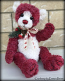 "Cranberry - 15"" hand dyed mohair Christmas artist bear by Emma's Bears - OOAK"